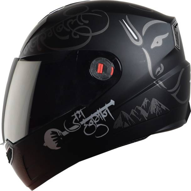 Steelbird SBA-1 mahavir Painted Motorbike Helmet