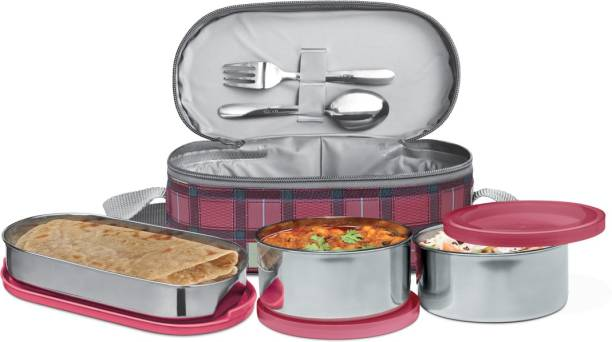 MILTON Premium CORPORATE LUNCH BOX with One Year Warranty 3 Containers Lunch Box