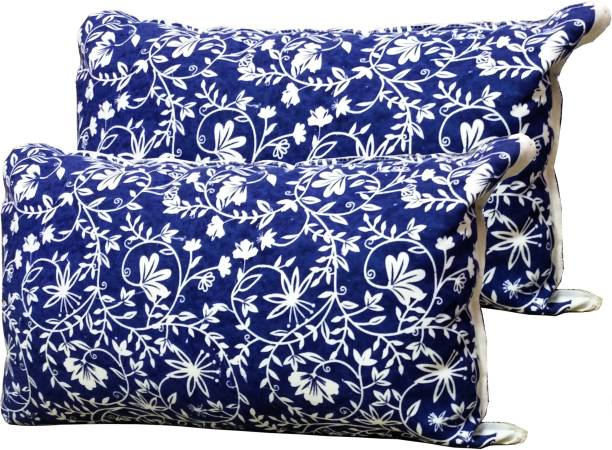 GOWRI TEX Polyester Fibre Floral Sleeping Pillow Pack of 2
