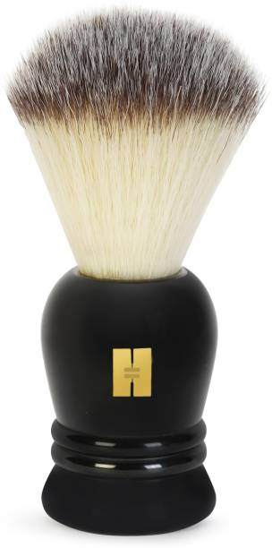 Hajamat Luxurious Black | Premium Quality Resin Handle|Extra Dense & Super Absorbent Bristles| Made in India Shaving Brush