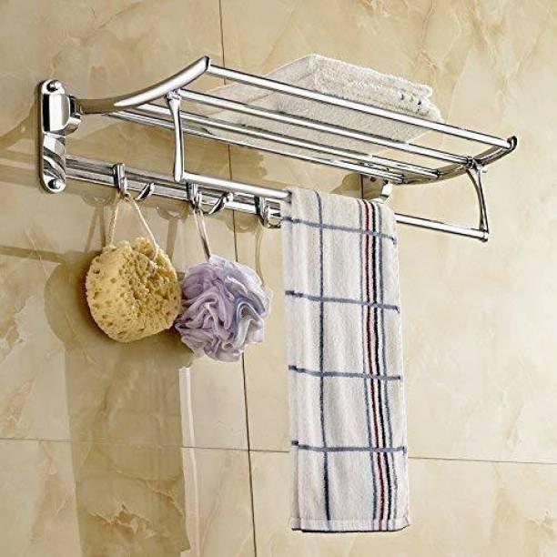 Roseleaf STAINLESS STEEL TOWEL High Grade Stainless Steel Folding Towel Rack for Bathroom/Towel Stand/Hanger/Bathroom Accessories 24 inch 5 Bar Towel Rod