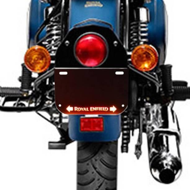 Golden Fox Bike Steel Front and Rear LED Number Plate with Inbuilt Indicator Delux Bike Number Plate Bike Handlebar Weights