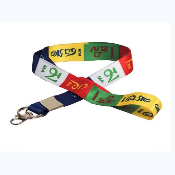 AVI Multi Colour ID Tag Tibetan Ladakh Prayer Tag Key Chain