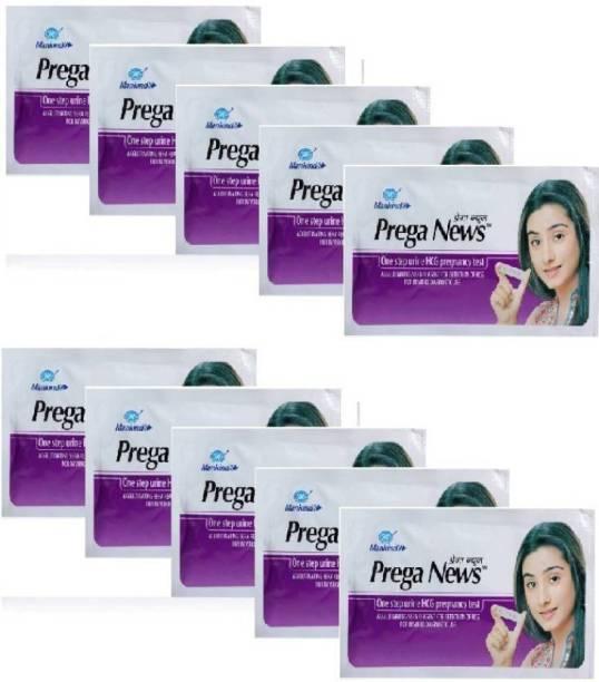 Mankind Praganews Pack of 10 Pregnancy Test Kit