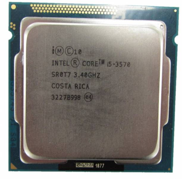 Intel i5 3570 3.4 GHz Upto 4 GHz LGA 1155 Socket 4 Cores 4 Threads 8 MB Smart Cache Desktop Processor