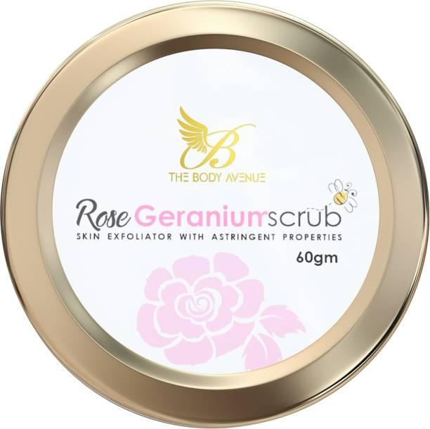 The Body Avenue Rose Geranium Scrub with Astringent Properties Scrub