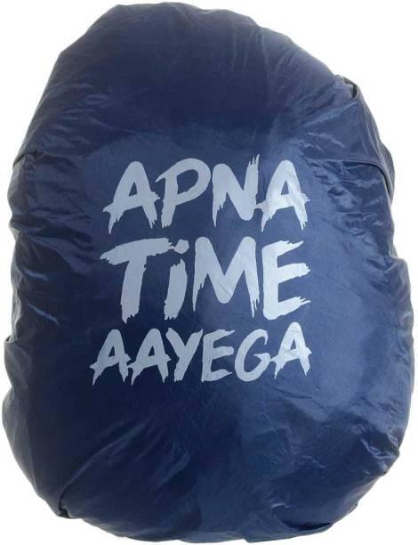VANSH RAIN COVER APNA TIME AAYEGA BLUE Dust Proof, Waterproof School Bag Cover, Trekking Bag Cover