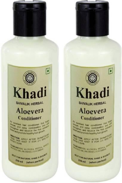 Khadi Herbal Aloevera Hair Conditioner - Twin Pack