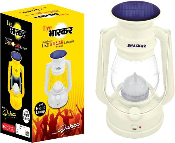 Eye Bhaskar 12 Hi-Bright LED With 1 Step Night Lamp Rechargeable Emergency Solar White Plastic Table Lantern