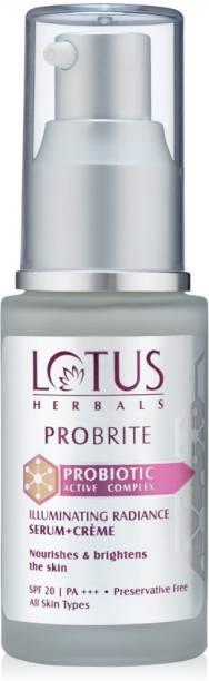 LOTUS Herbals PROBRITE Illuminating Radiance Serum+Crème