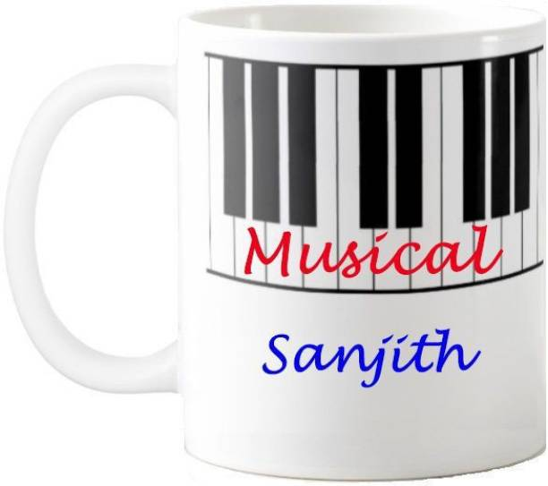 Exoctic Silver Sanjith Musical Quotes Gift 56 Ceramic Coffee Mug