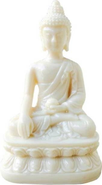ONRR Collections Gautam Buddha feng shui marble statue for knowledge healthy vibes and good luck purity Decorative Showpiece  -  10 cm
