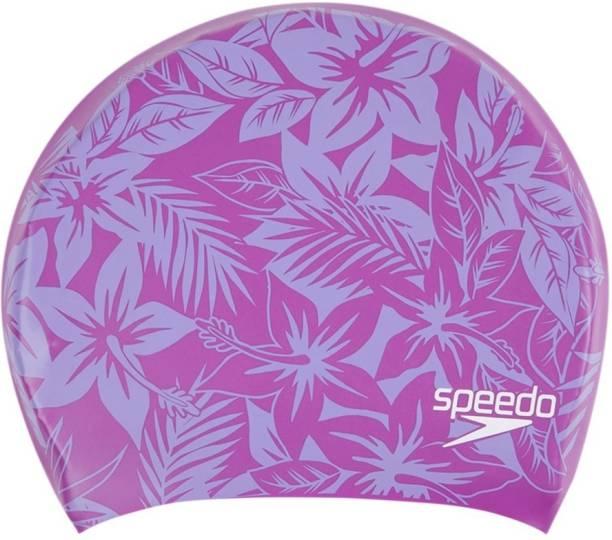 SPEEDO Long Hair Printed Cap Swimming Cap