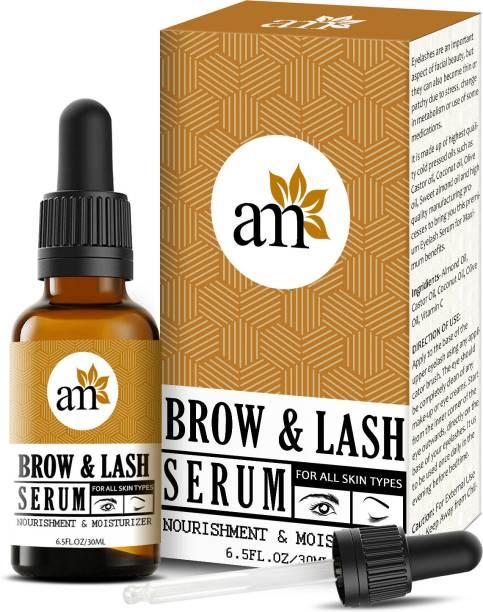 aromamusk Brow & Lash Growth Serum For Thicker, Longer Eyebrows & Eyelashes