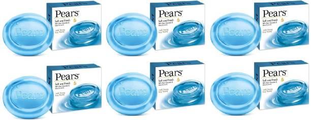 Pears Soft & Fresh Soap Bar : 100 gms (Pack of 6)