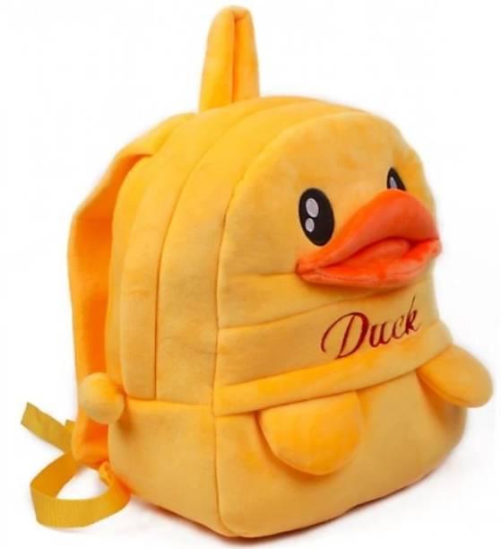 3G Collections Yellow Duck Teddy Bear Soft Toy Kids Plush Bag/School Bag Waterproof School Bag