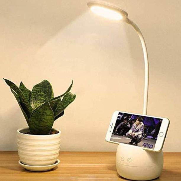 Renyke Rechargeable 16 LED Round Rechargeable Table Study Lamp Table Lamp