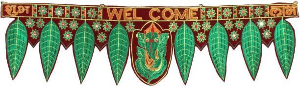 Ronak Creation Handmade Welcome Ganeshaya Namah Toran