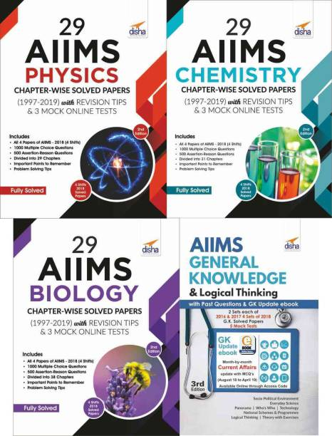 29 AIIMS Physics, Chemistry & Biology Chapter-wise Solved Papers (1997-2019) with AIIMS GK & Logical Thinking Book - 2nd Edition
