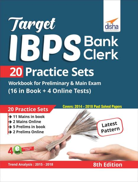 Target IBPS Bank Clerk 20 Practice Sets Workbook for Preliminary & Main Exam (16 in Book + 4 Online Tests) 8th Edition