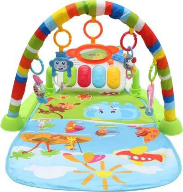 OBLETTER New Baby Products New Born Baby Kick Play Musical Activity (Multicolor)