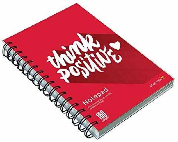 Askprints PREMIUM PAPER A5 Note Pad UN RULED 160 Pages