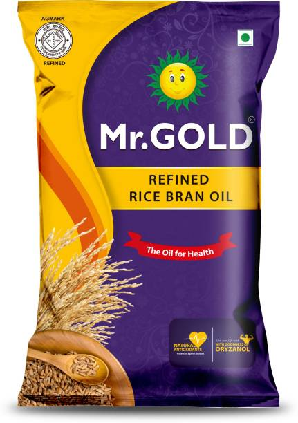 Mr. Gold Mr.GOLD-Refined Rice Bran 1 Ltr Pouch Rice Bran Oil Pouch