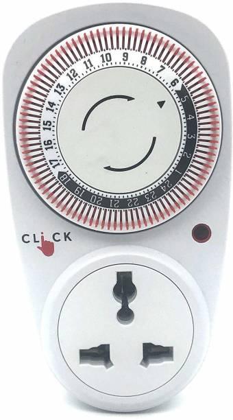 Electrobot 24 Hour Plastic Programmable Mechanical Digital Timer Preset Electronic Timer Switch
