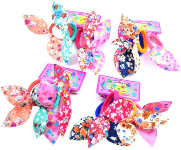 DECZO Rubber Bands Style Ponytail Holder for Baby, Girls,Moms Rubber Band
