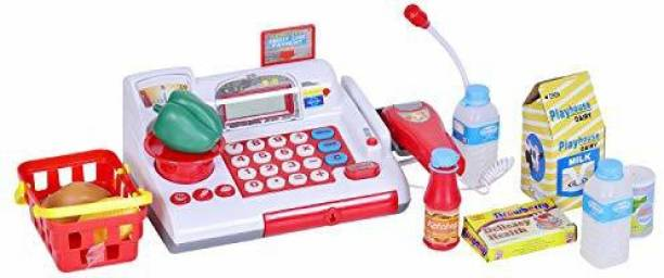 Smartcraft Cash Register, Learning and Educational Pretend Play Electronic Cash Register with Light and Sound