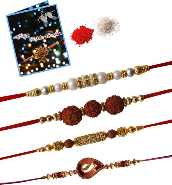STYLE BADGE Chawal Roli Pack, Rakhi, Greeting Card  Set