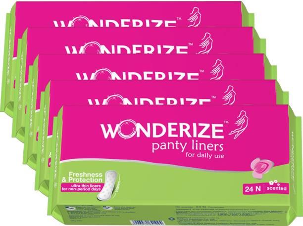 Wonderize Panty Liners Combo of 5 Pantyliner