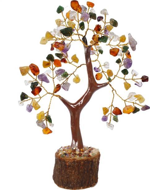 The Emerald Hut Chakra Small Precious Stone Tree Showipiece For Vastu, Multicolor Decorative Showpiece  -  15 cm