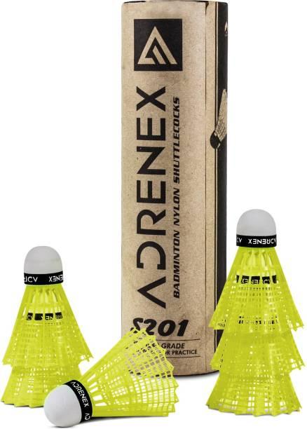 Adrenex by Flipkart S201 Nylon Shuttle  - Yellow
