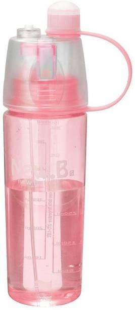 kiros New.B Plastic Water Bottle Direct Drinking Bottle With Spray 600 ml Bottle