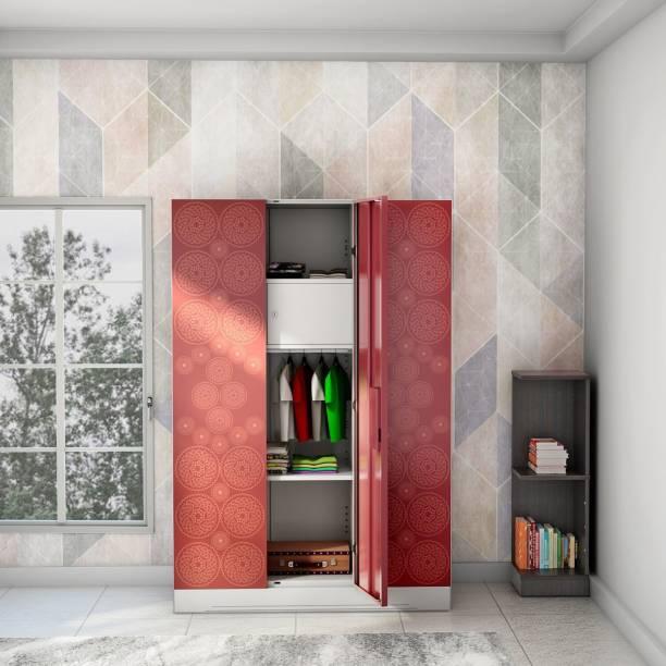 Godrej Interio Slimline Fusion 3 Door With Locker and Drawer Metal Almirah