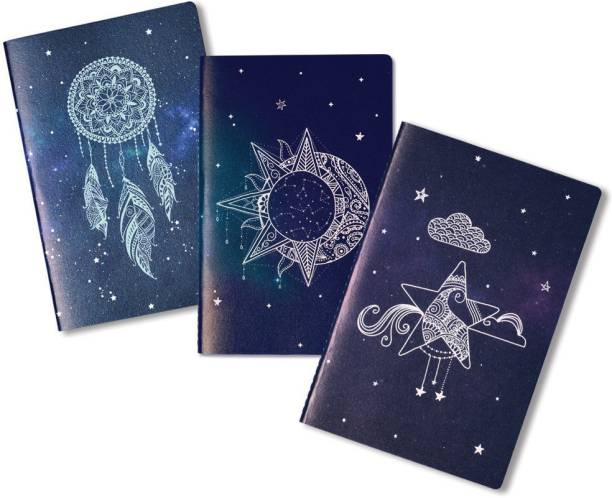 doodle Beyond the Stars (Set of 3) B6 Notebook Ruled 80 Pages
