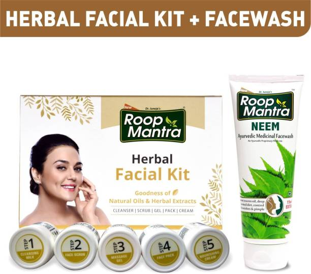 Roop Mantra Facial Kit 75gm + Neem Face wash 115ml