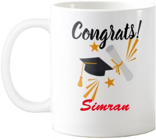 Exoctic Silver Simran Congratulations Quotes Gift 55 Ceramic Coffee Mug