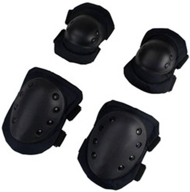 popo Alloy Steel Elbow Guard Flexible Breathable Adjustable Knee Knee Guard, Elbow Guard Free Black