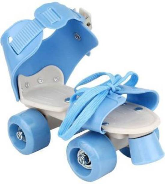 Toyporium Skates Shoes For Kids / Childrens - UNISEX In-line Skates Quad Roller Skates - Size 4-8 UK Quad Roller Skates - Size 4--8 UK (Blue) In-line Skates - Size 4-6 Shoe Skates - Size 4-8 UK