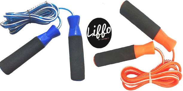HOMMER Skipping Rope for MenWomenWeight Loss Combo Pack of 2 piece 9FT Freestyle Skipping Rope