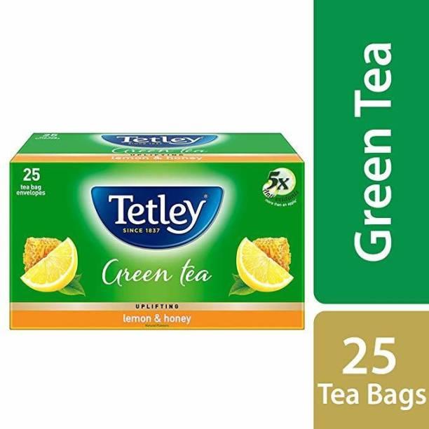 tetley GREEN TEA LEMON AND HONEY 25 BAGS Lemon, Honey Green Tea Bags Box