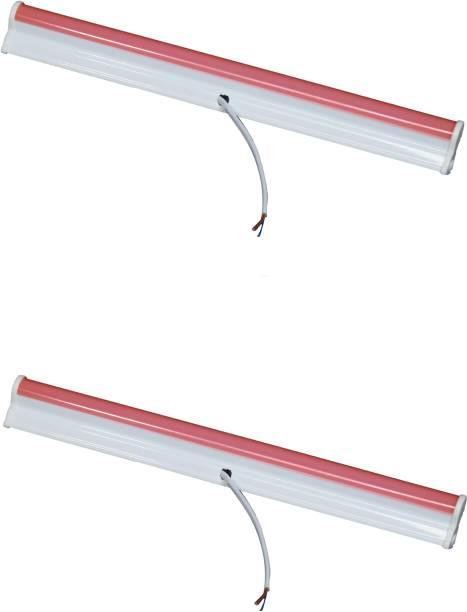 D'Mak 5 Watt 1 foot Red LED Tube Light T5 for Decoration (Pack of 2) Straight Linear LED Tube Light