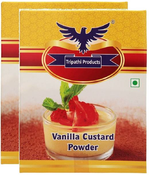 Tripathi Products Vanilla Custard Powder 2 x 100 grams Custard Powder