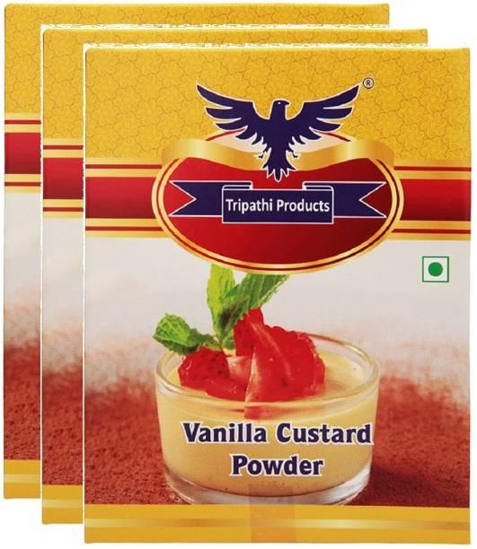 Tripathi Products Vanilla Custard Powder 3 x 100 grams Custard Powder