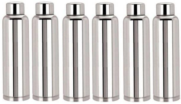 Steelo classic stainless steel fridge water bottle 1000ml (pack of 6) 1000 ml Bottle