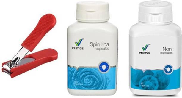 Vestige Spirulina and noni with nail cutter