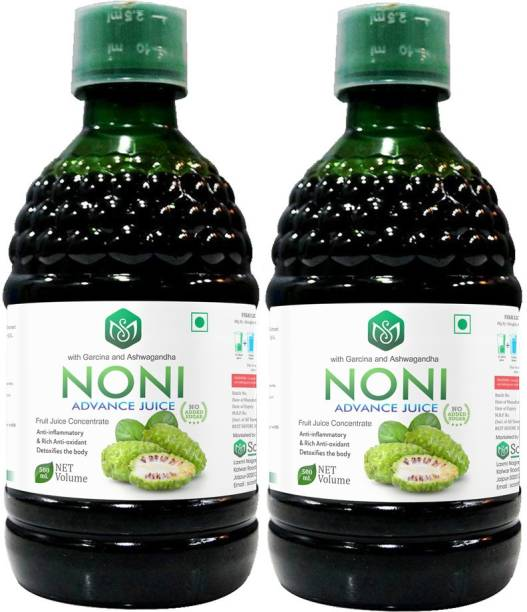 Scorlife Marketing Noni Advance Juice with garcinia and Ashwagandha [Pack of 2] Mixed Fruit