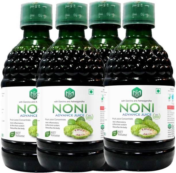 Scorlife Marketing Noni Advance Juice with garcinia and Ashwagandha [Pack of 4] Mixed Fruit
